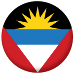 Antigua & Barbuda Country Flag 25mm Flat Back